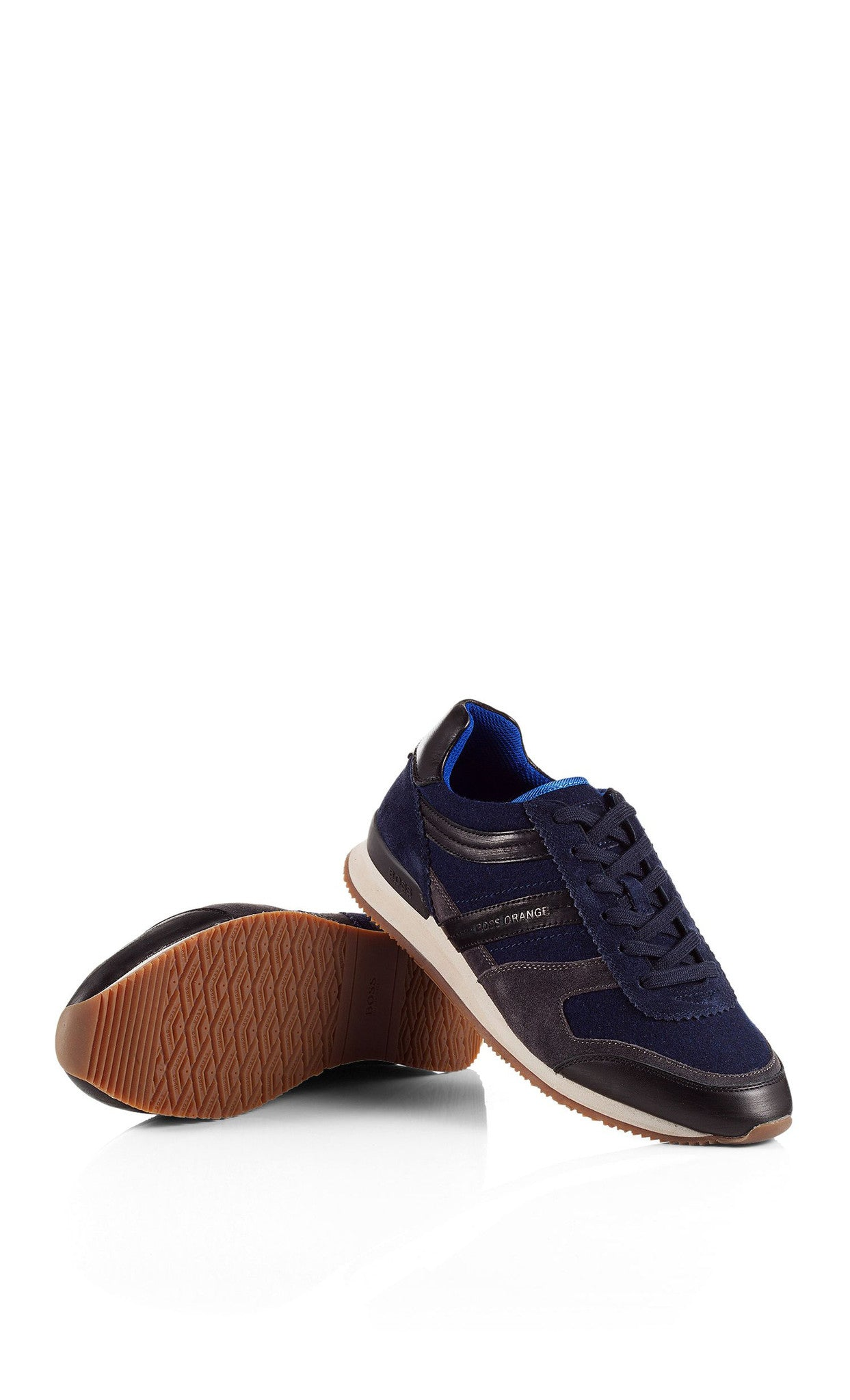 Hugo Boss Orange Adrenno Sneaker in Dark Blue 50273321