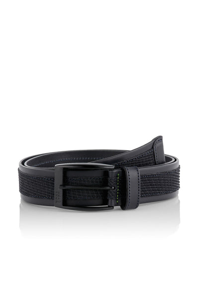 Hugo Boss Tebalto Leather Belt in Navy 50286130