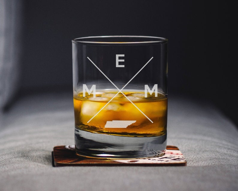 Memphis Whiskey Glass | Memphis Rocks Glass