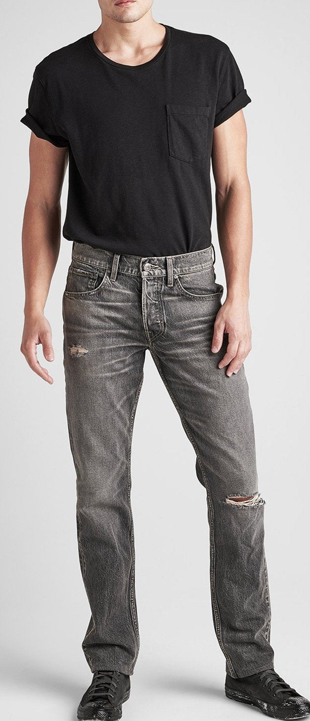 Hudson Blake Slim Straight Jeans in Interstate M275DBD