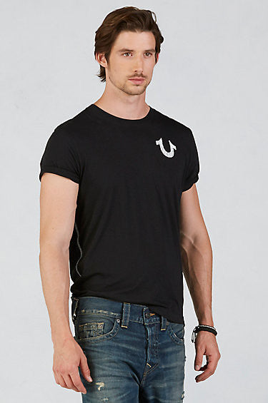 True Religion Shoestring Horseshoe T-Shirt MC353NP02 (Multiple Colors)