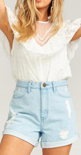 Show Me Your Mumu Raleigh Roll Up Shorts in Nautilus MDS9-087