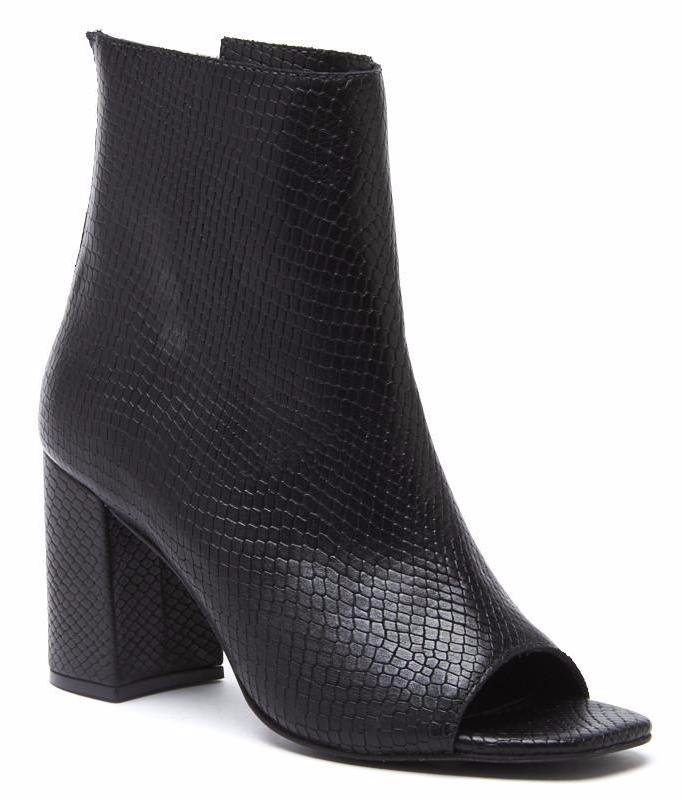 Matisse Melaney Peep Toe Bootie in Black MNILLBK