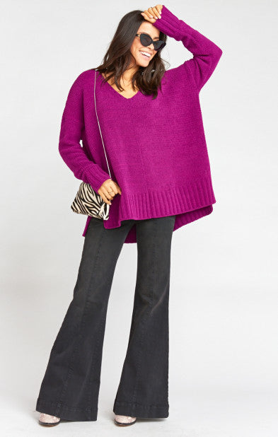 Show Me Your MUMU Hug Me Sweater Ultraviolet Knit MF9-1264