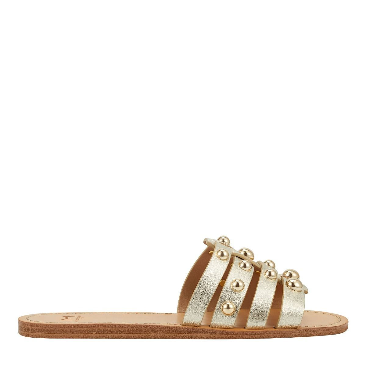 MARC FISHER LTD Pava Studded Flat Sandal Pava Studded Flat Sandal