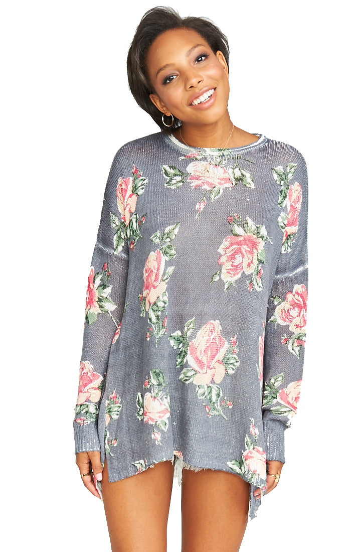 Show Me Your Mumu Bonfire Sweater in Sweetheart Marine Knit MS8-1030