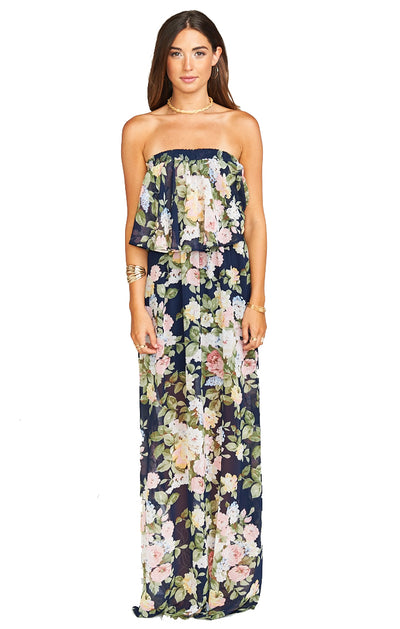 Show Me Your Mumu Hacienda Maxi Dress in Party Blossom MS8-134