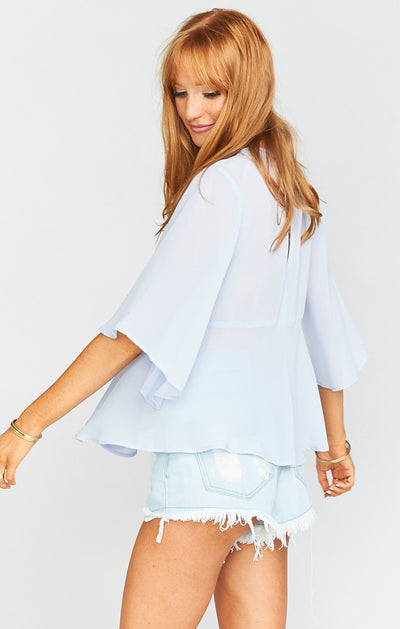 Show Me Your Mumu Ingrid Top in Periwinkle Chiffon MS8-954
