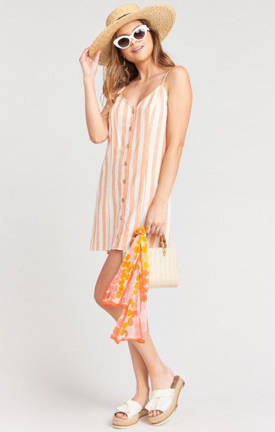 Show Me Your Mumu Remington Dress in Dreamsicle Stripe Linen MS9-1811