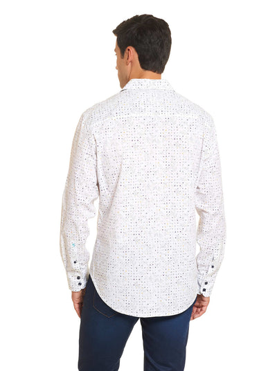 Robert Graham Kallahari Sport Shirt in White RS161018CF