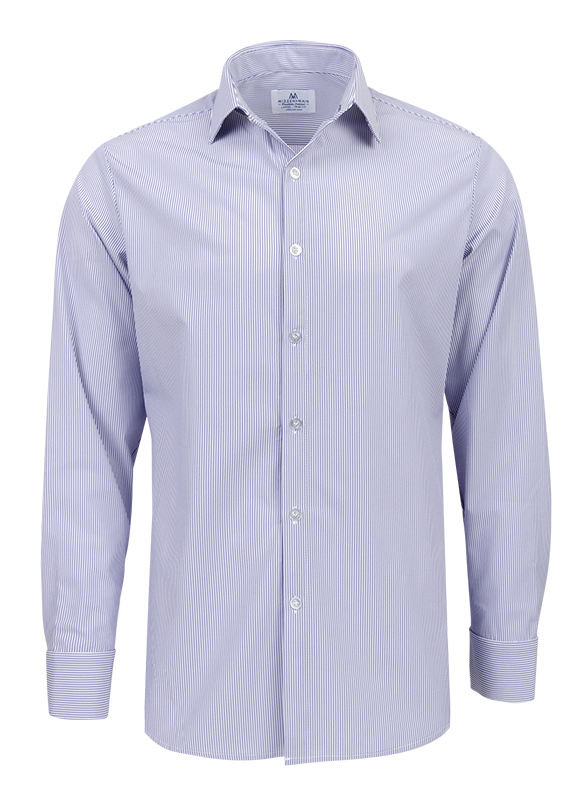 Mizzen+Main Norfolk Blue Pinstripe Button Down Shirt L-5003