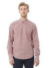 Vince Gingham Check Slim Fit Shirt in Red M2025-1208