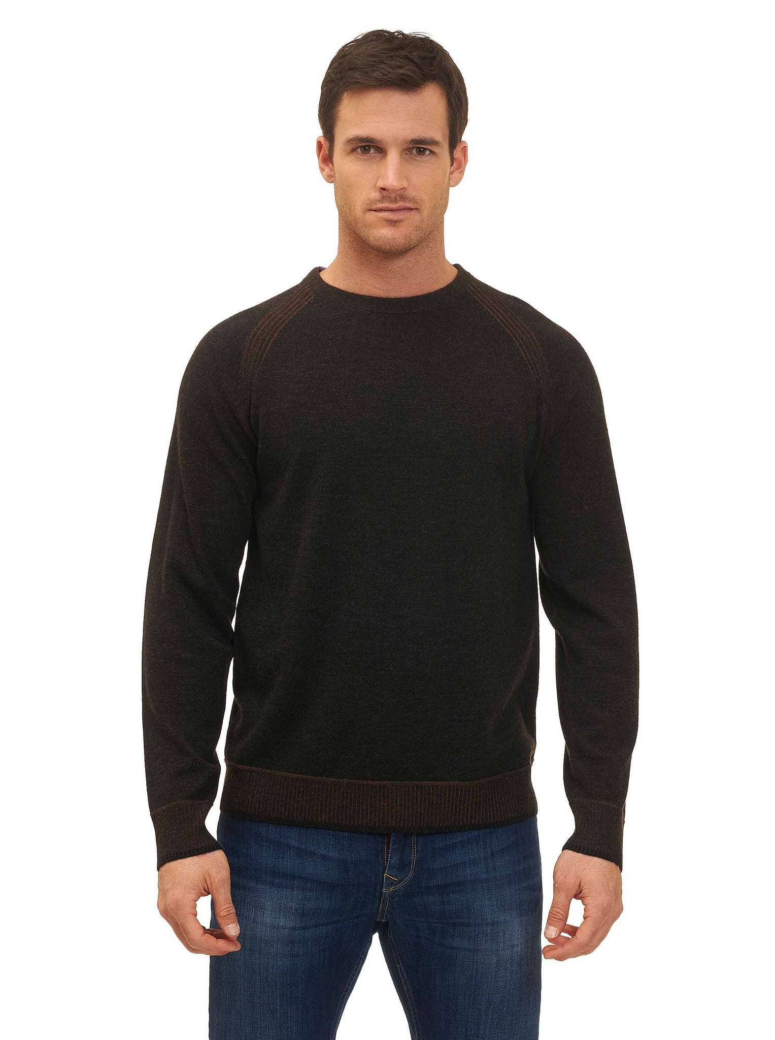 Robert Graham Filberto Crewneck Sweater in Heather Charcoal RF168016CF
