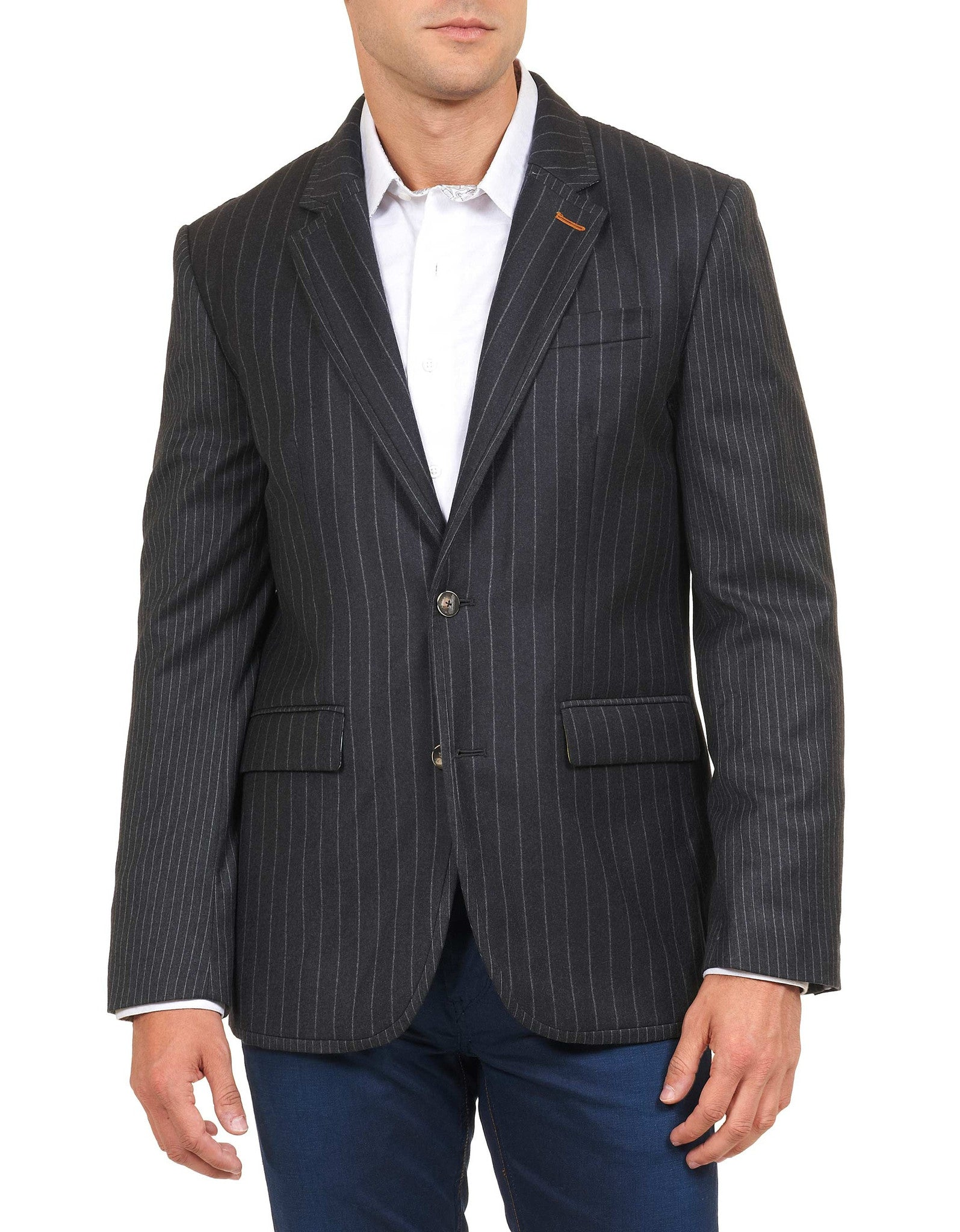Robert Graham Slattery Tailored Fit Sport Coat in Charcoal RF155002TF