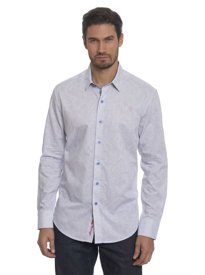 Robert Graham Alex Bay Sport Shirt in White RF171047CF