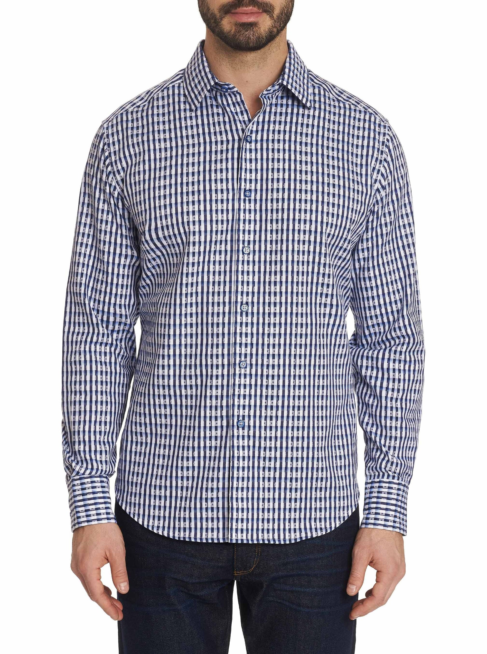 Robert Graham Hackman Sport Shirt Blue RF191041CF