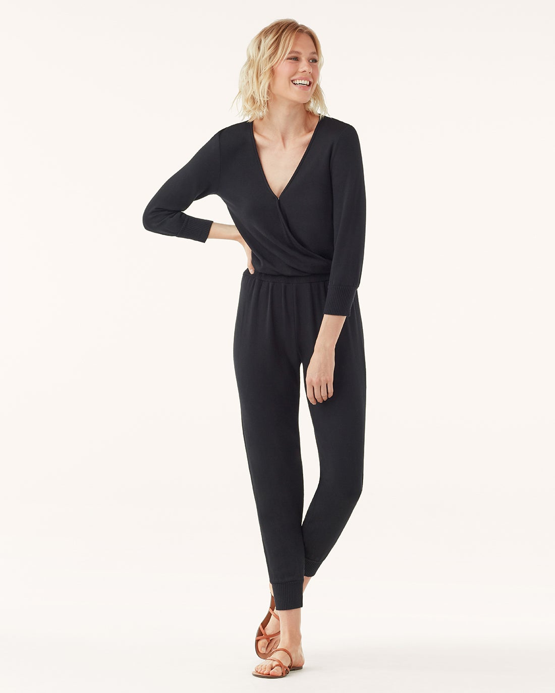 Splendid Super Soft with Rib Surplice Romper RF9R150
