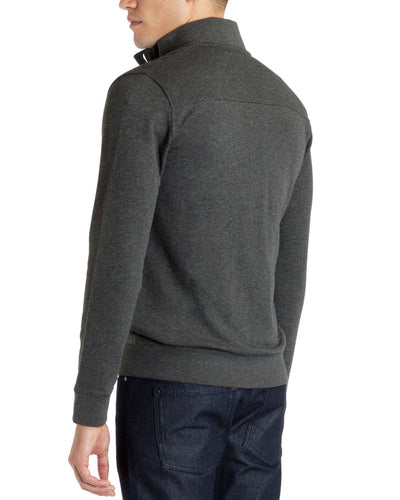 Ted Baker Waltar Button Up Sweater in Grey Marl
