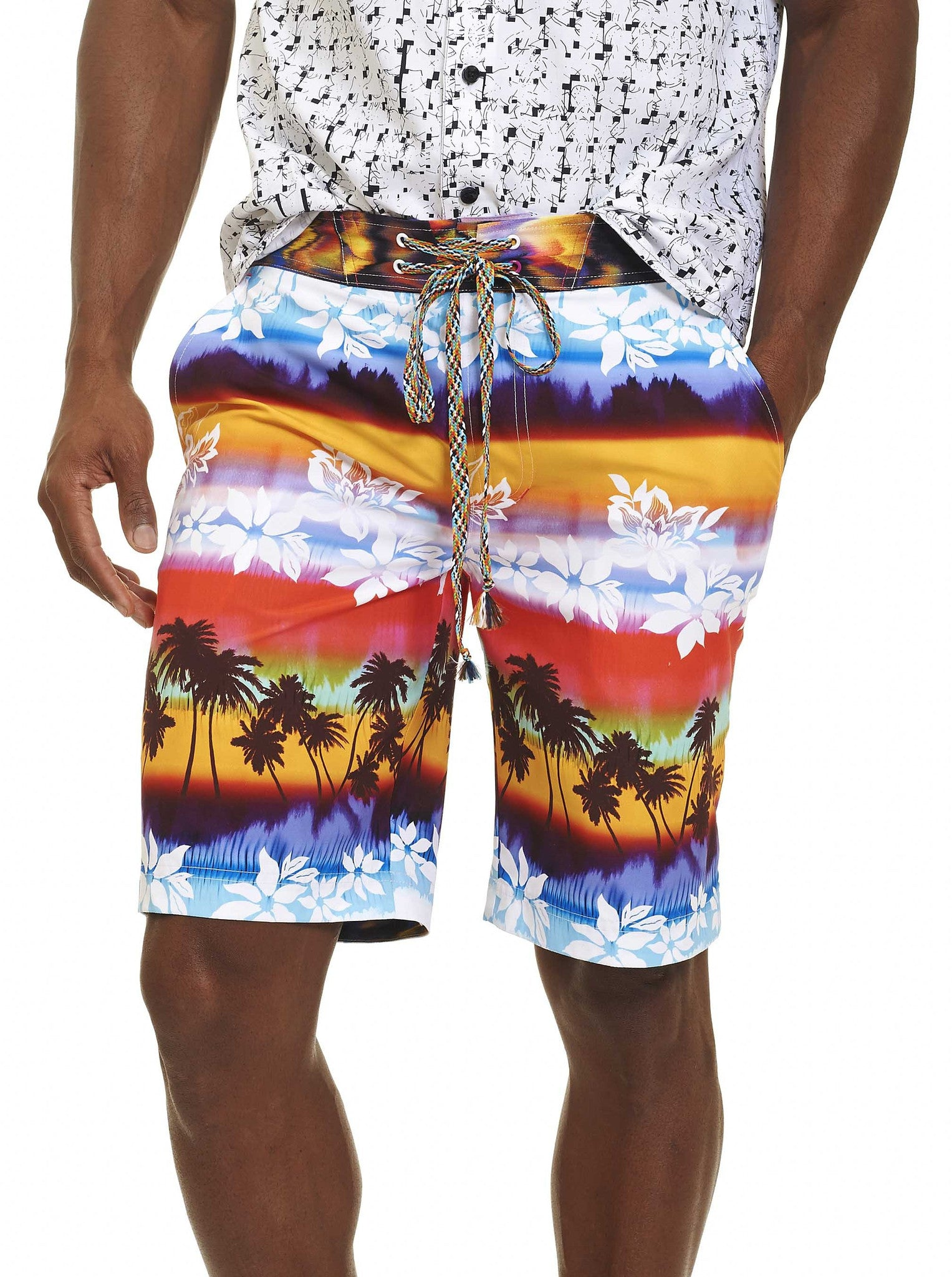 Robert Graham Earth Orbit Swim Board Shorts RR164109CF