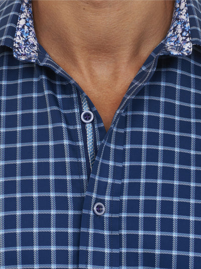 Robert Graham Fanning Sport Shirt in Navy RS151012CF