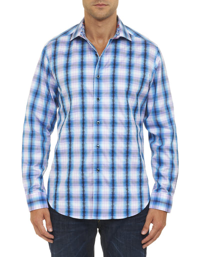 Robert Graham Lorde Howe Sport Shirt in Blue RS151018CF