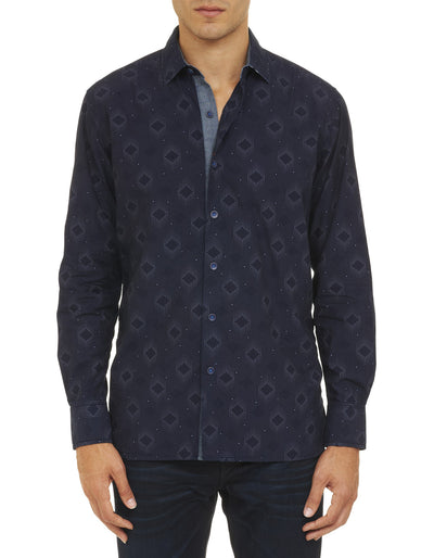 Robert Graham Los Cabos Sport Shirt In Black RS151205TF