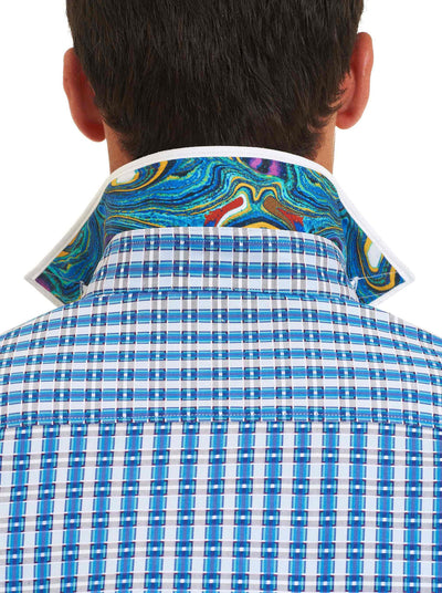 Robert Graham Luxor Sport Shirt in Turquoise RS161019CF