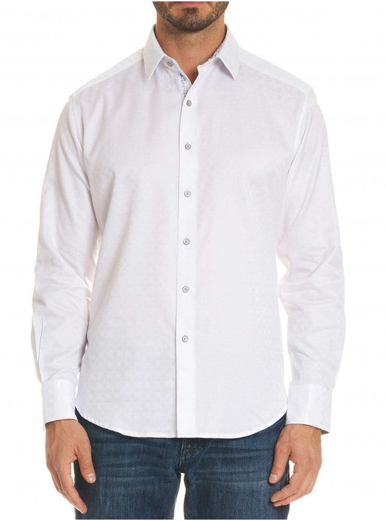 Robert Graham Diamanate Sport Shirt White RS181000CF
