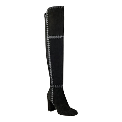 Sigerson Morrison Steele Tall OTK Boot in Black Suede