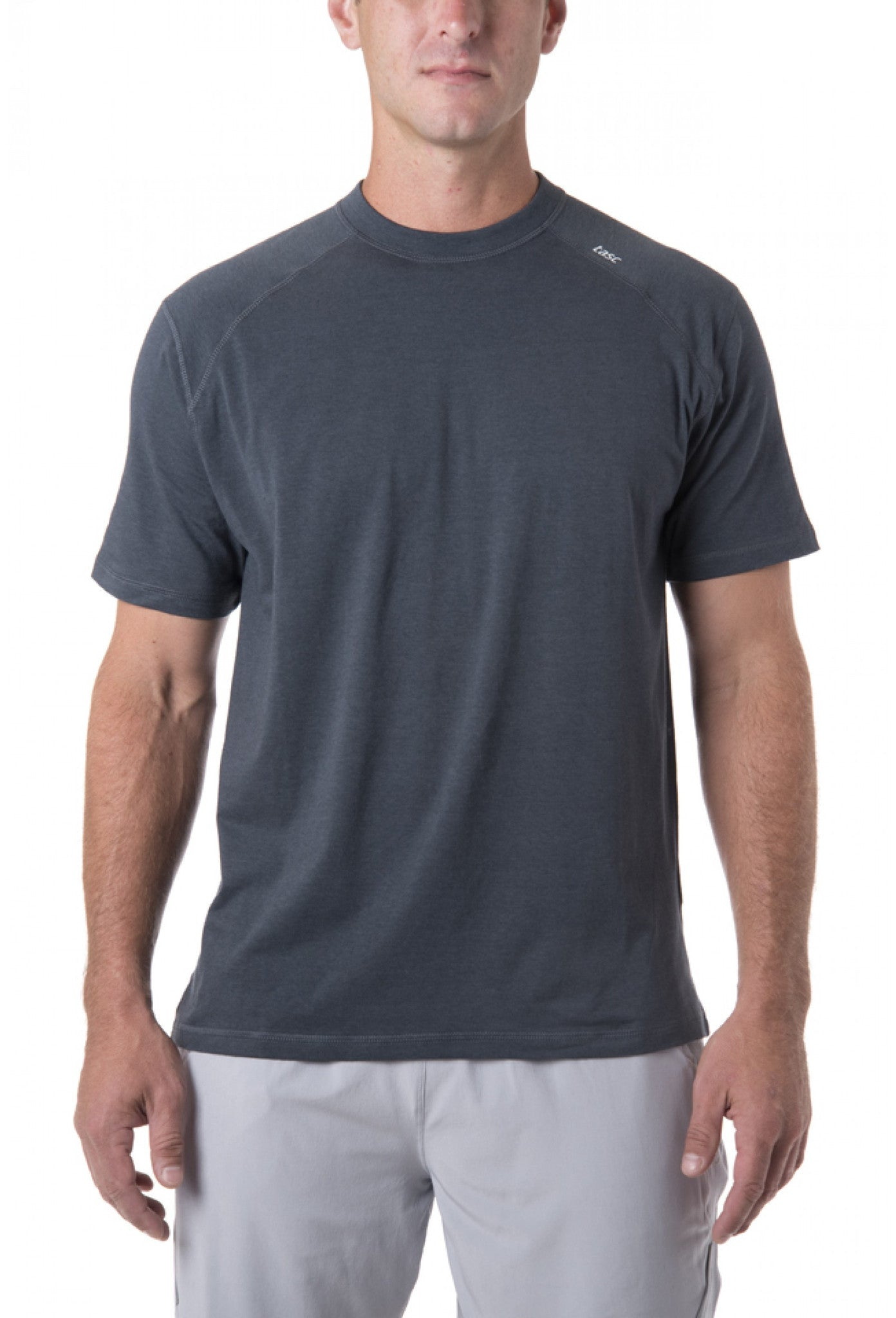 Tasc Performance Carrollton Crew Neck Tee T-M-110, Gunmetal