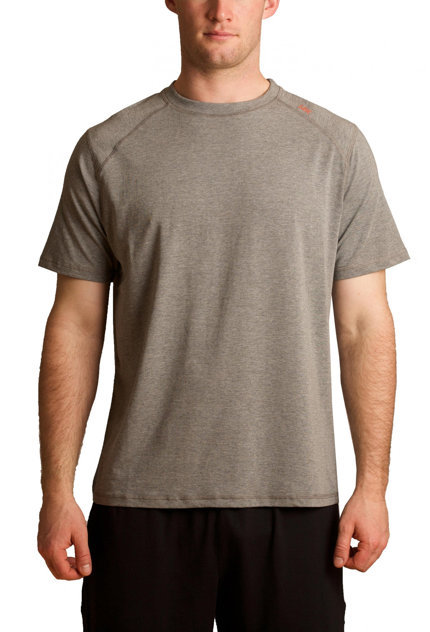 Tasc Performance Carrollton Crew Neck Tee T-M-110, Heather Gray
