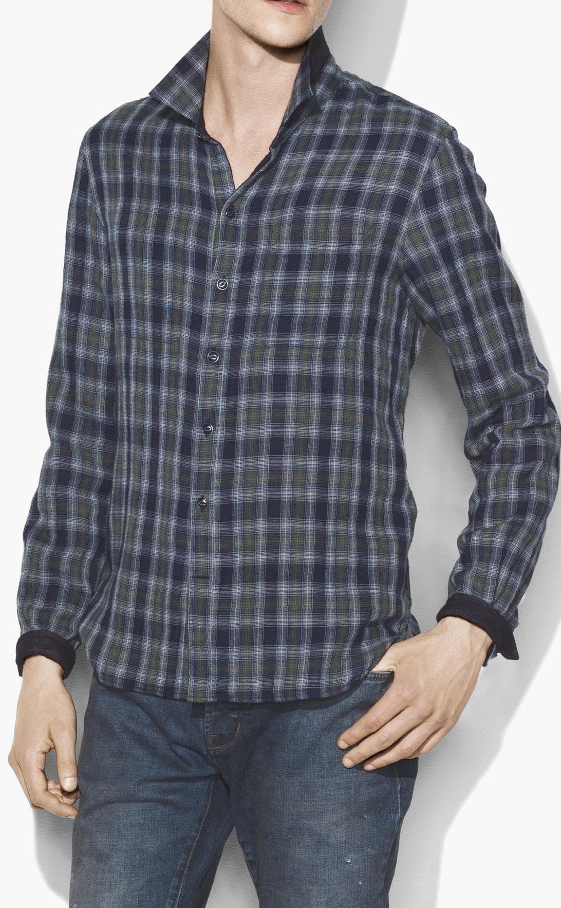 John Varvatos Reversible Button Down Shirt W600U3B-67BB