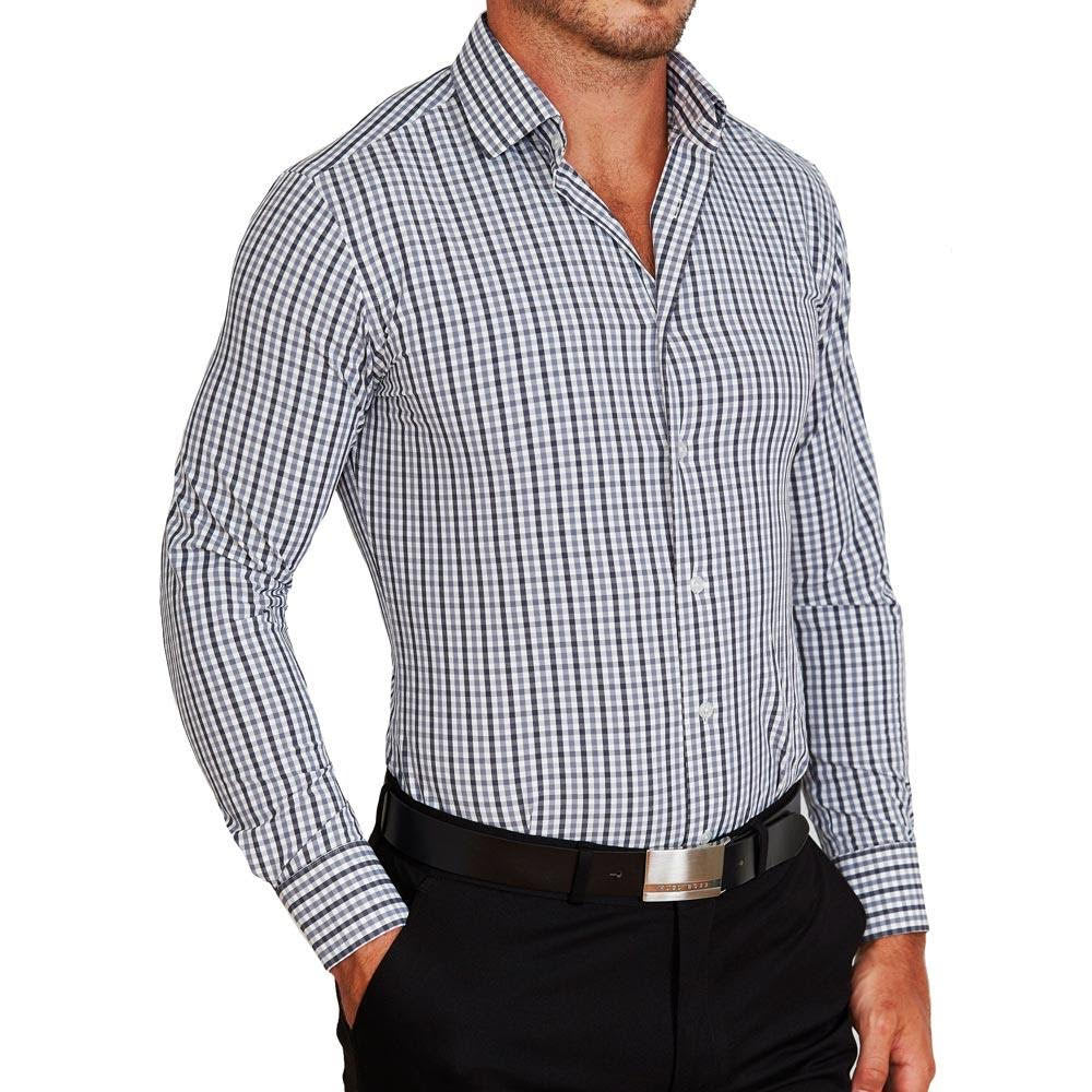 State & Liberty The Sherman Grey And Black Check Shirt