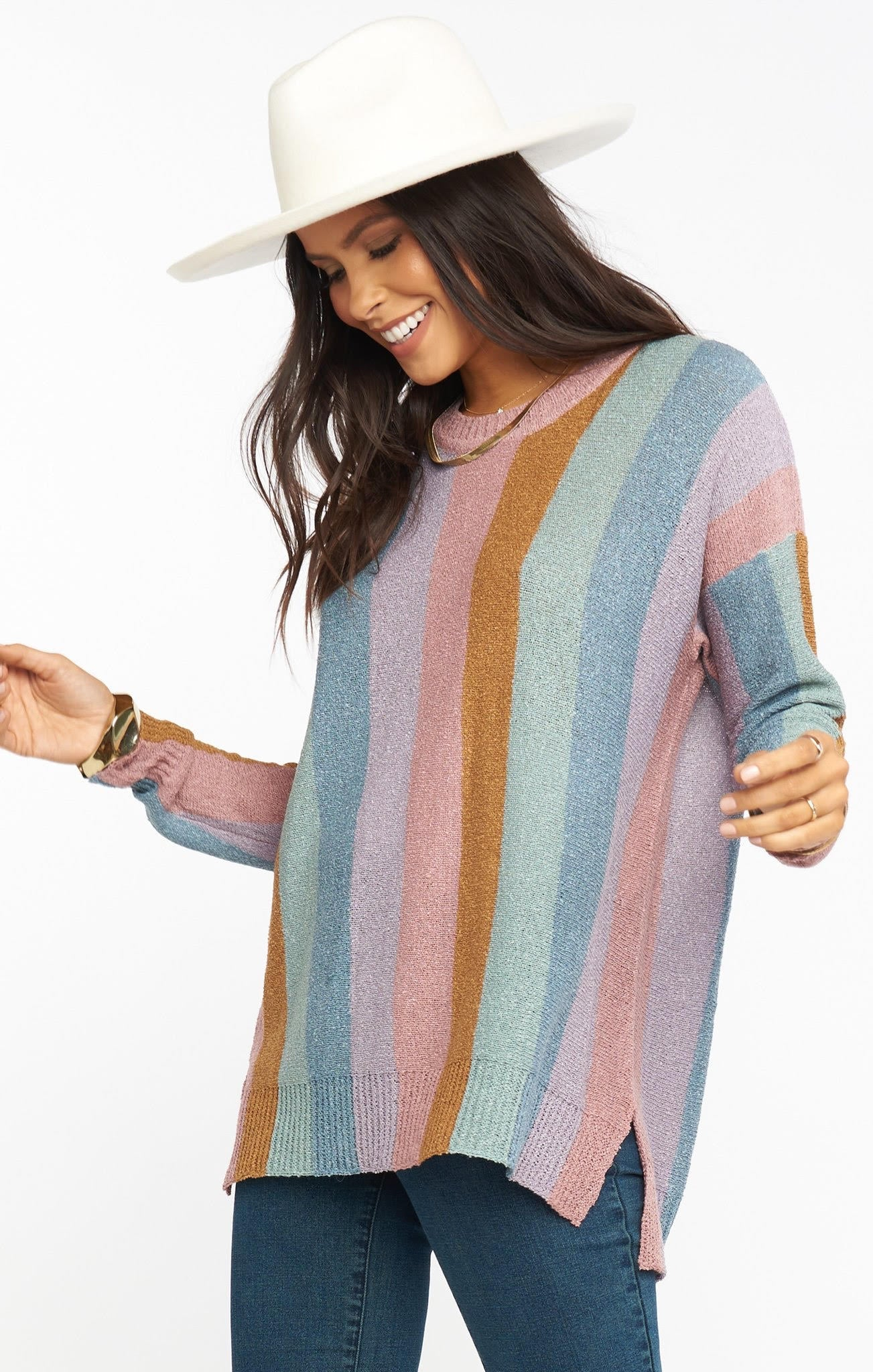 Show Me your Elodie Sweater Dusty Stripe MUMU MF0-4268