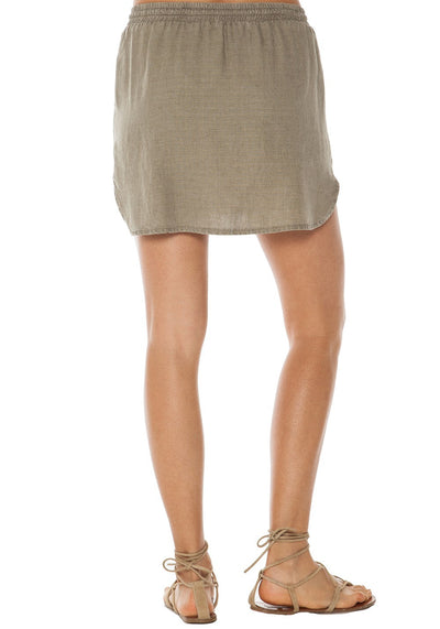Bella Dahl Easy Drawcord Skirt in Jungle Moss B3680-874-301