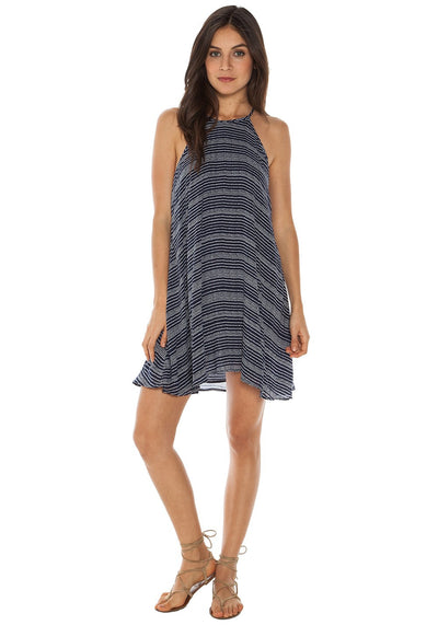 Bella Dahl Halter Dress in Navy B6767-910-304