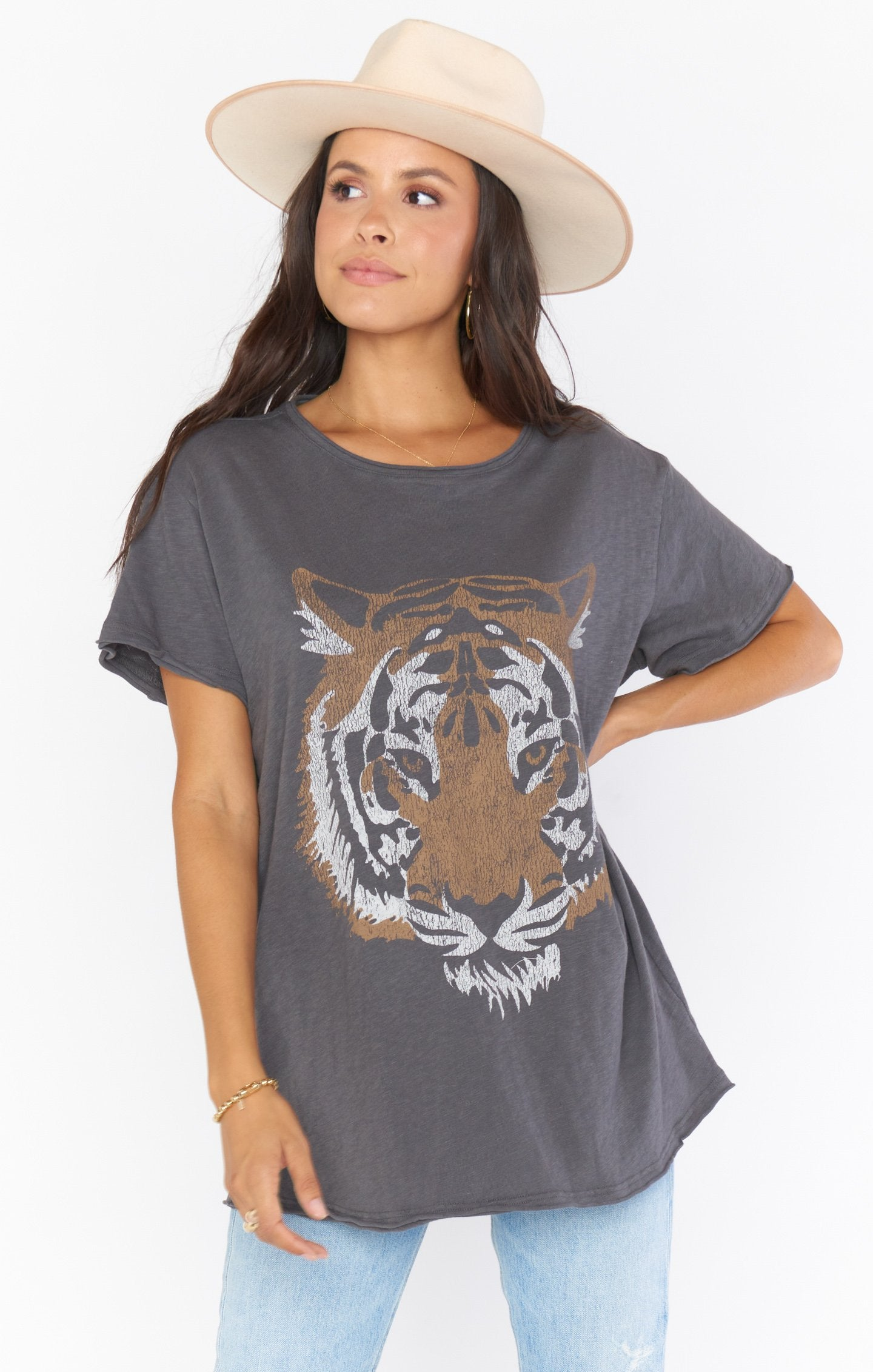 Show Me Your MUMu Airport Tee Tiger Head Graphic MF0-4143