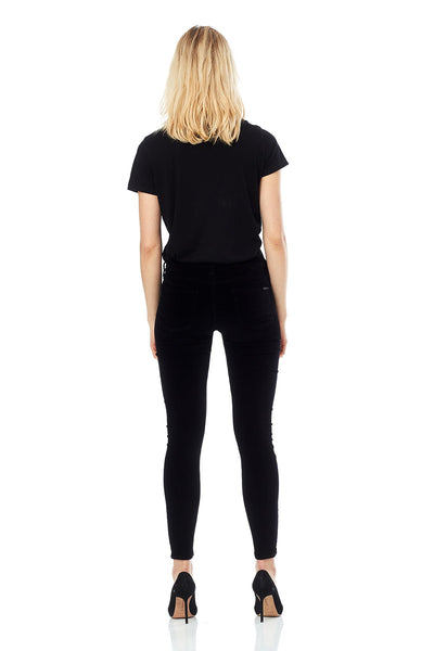 Hudson Barbara High Waist Super Skinny ANkle in Black Star WHA407VEG