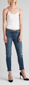 Hhudson Tally Midrise Skinny Crop in Side Bar WMC4004DLQ