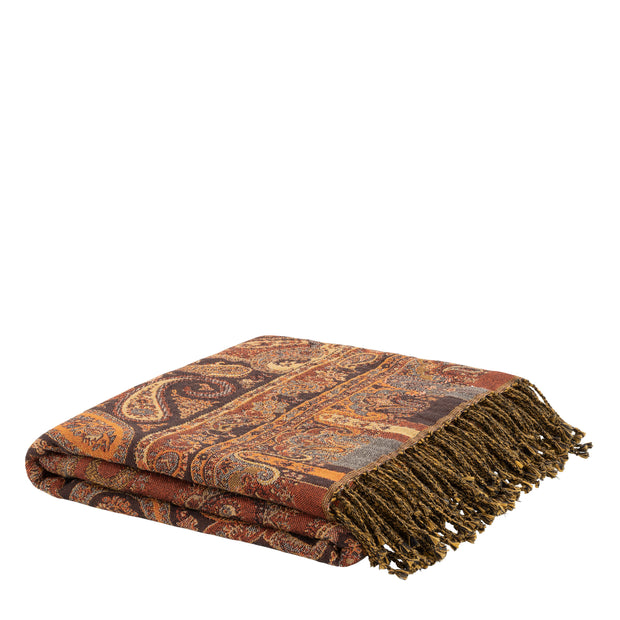 EROZ PAISLEY OCHER Throw (teppe/pledd)