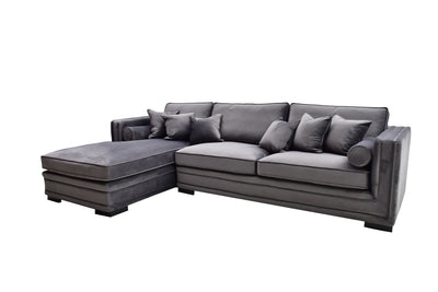 Broadway Lux Lounge Sofa (Grå Velour)
