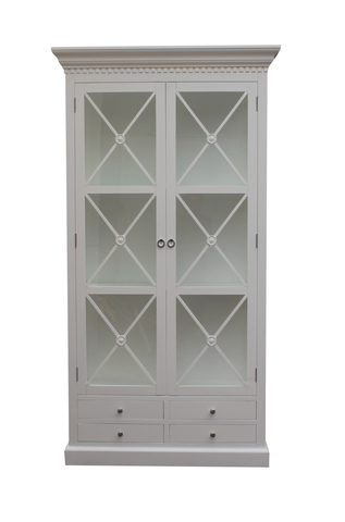 Bordeaux Cross Cabinet 120 cm (Hvit)