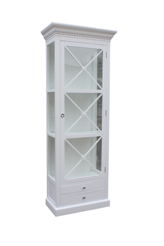 Bordeaux Cross Cabinet 80 cm (Hvit)