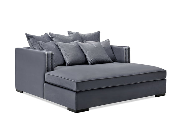 Manhattan Daybed 1 (Grå Velour)