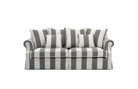 Kenya sofa 220 x 97 x 86cm (Sort stripe)