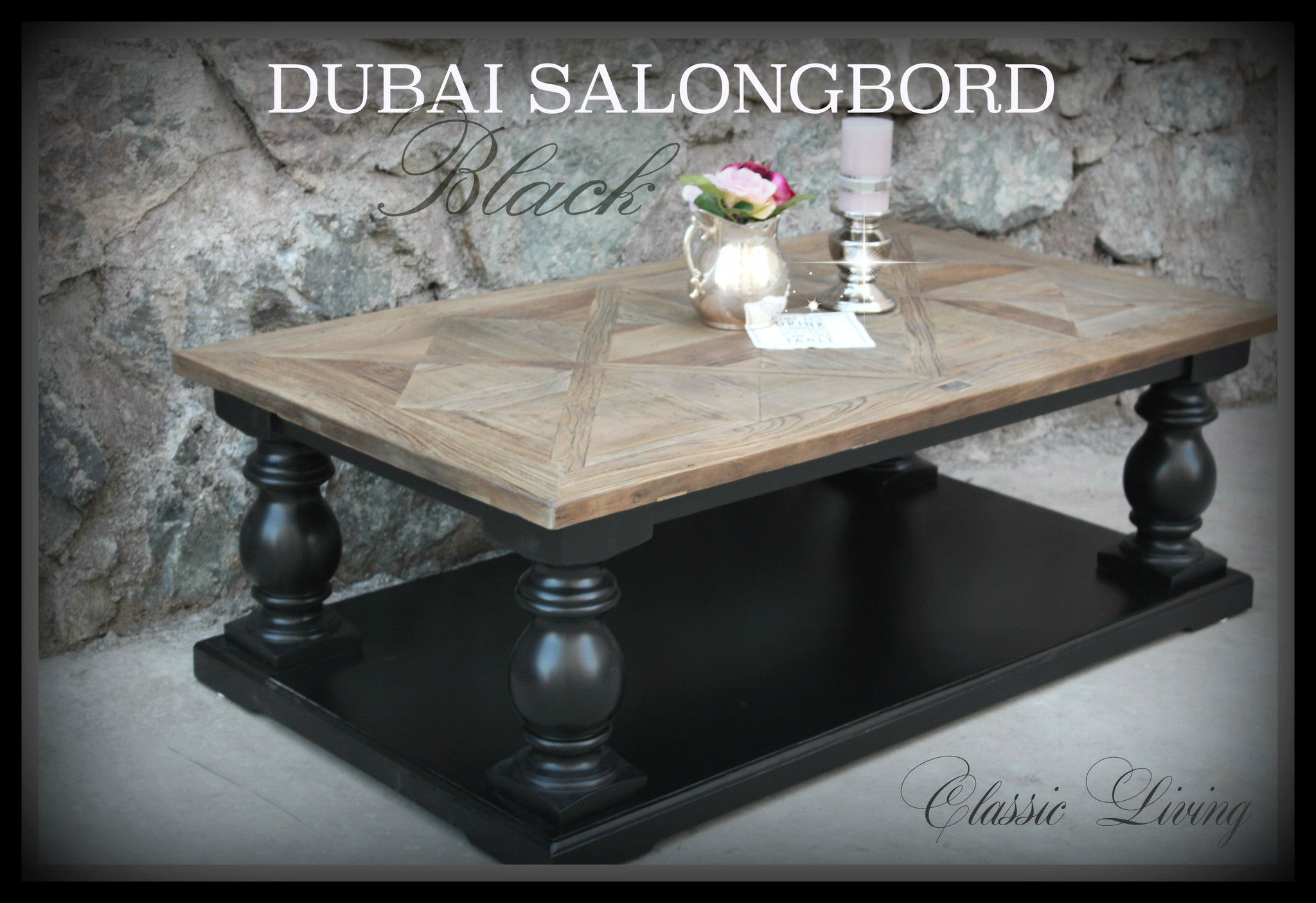 Dubai Salongbord 140 cm (drivved & sort)