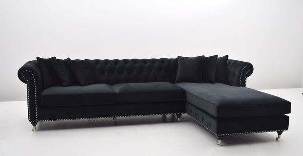 La Serena Lux Lounge Sofa (Sort Velour)