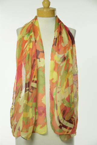 Coloful Running Horse Print Scarf S9