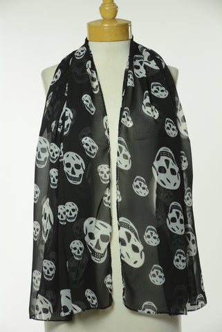 Black and White Skull Scarf S16