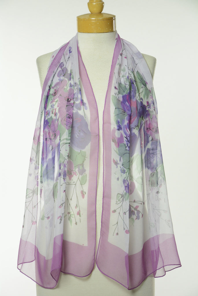 Floral Print Scarf S36